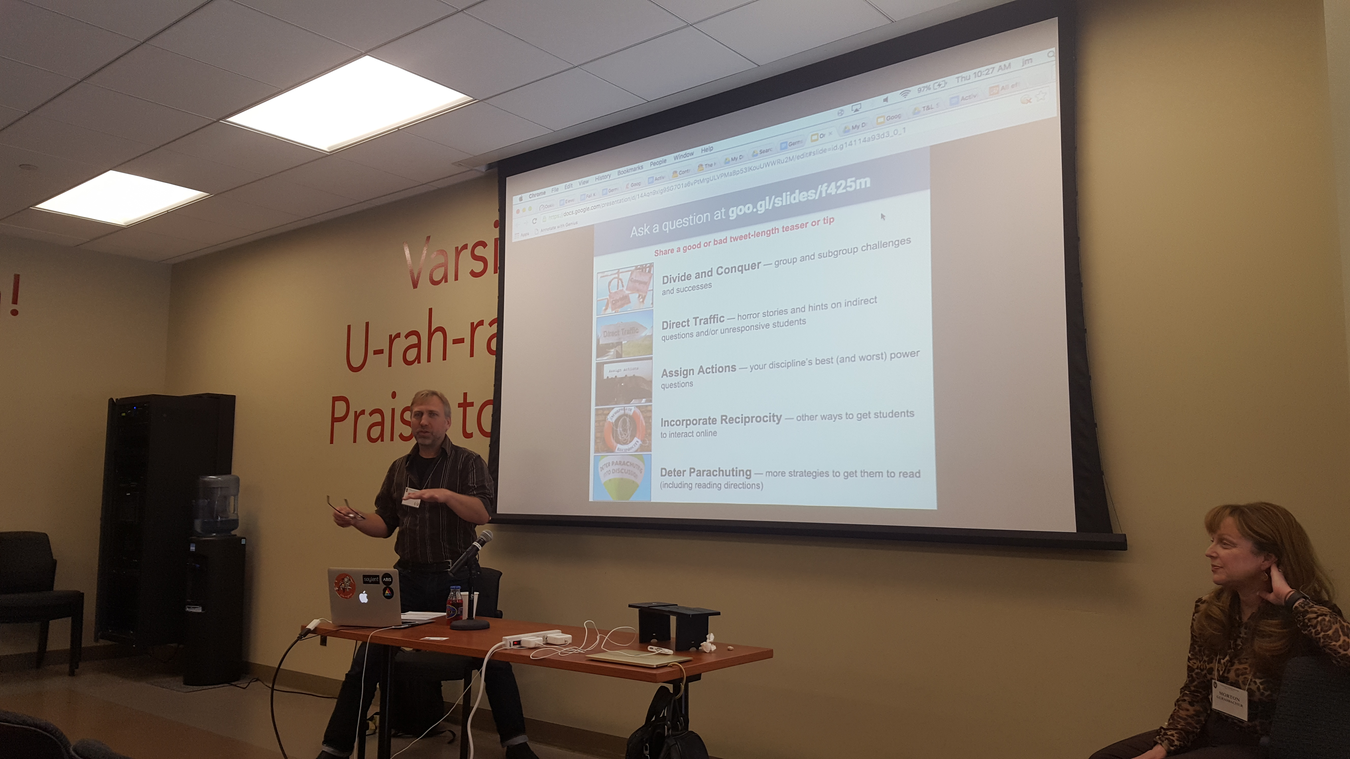 John Martin co-presents with Morton Ann Gernsbacher about improving online discussion boards