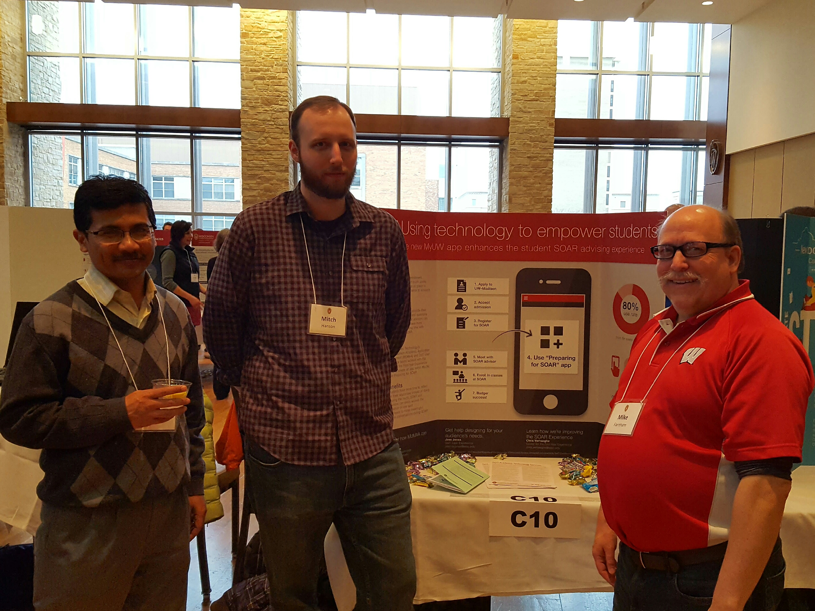 Saikat Sengupta, Mitch Hanson and Mike Farnham at the Preparing for SOAR App poster.