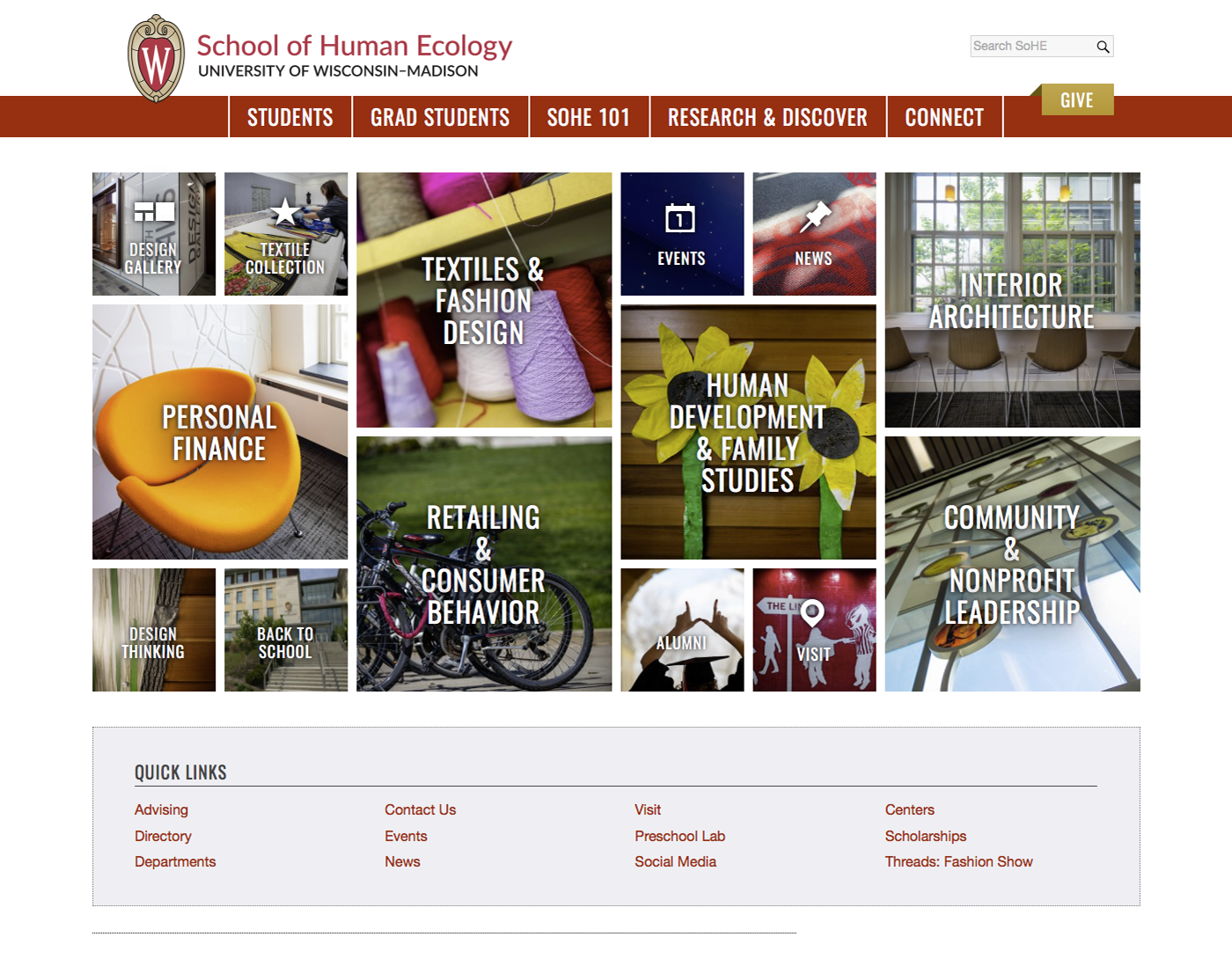 School of Human Ecology Website