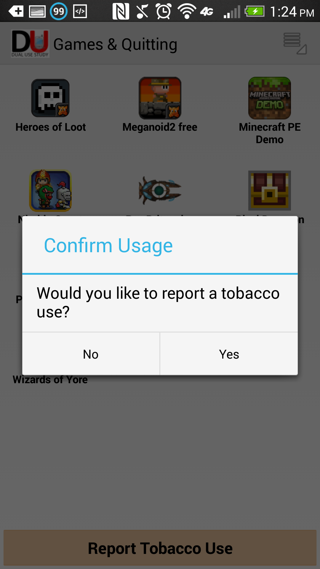 Center for Tobacco Research and Intervention Games and Quitting App