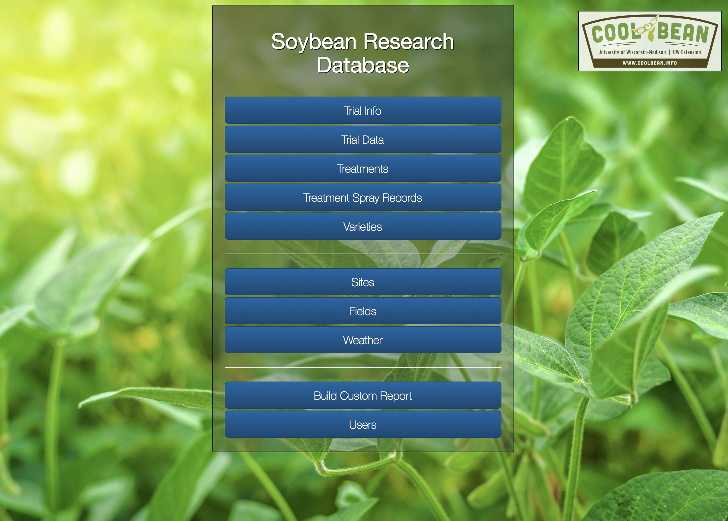 Soybean Research Database