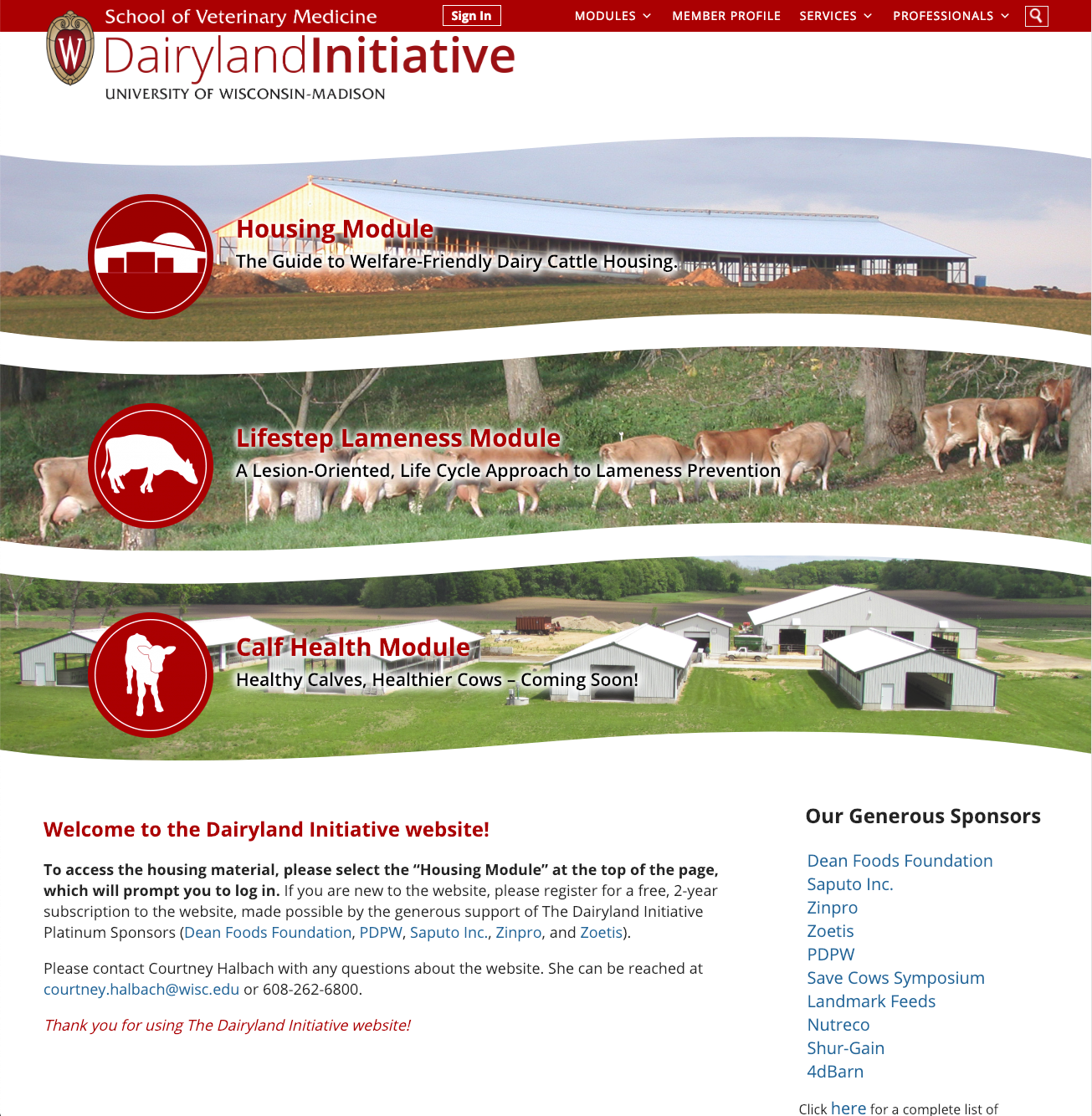 Dairyland Initiative Website