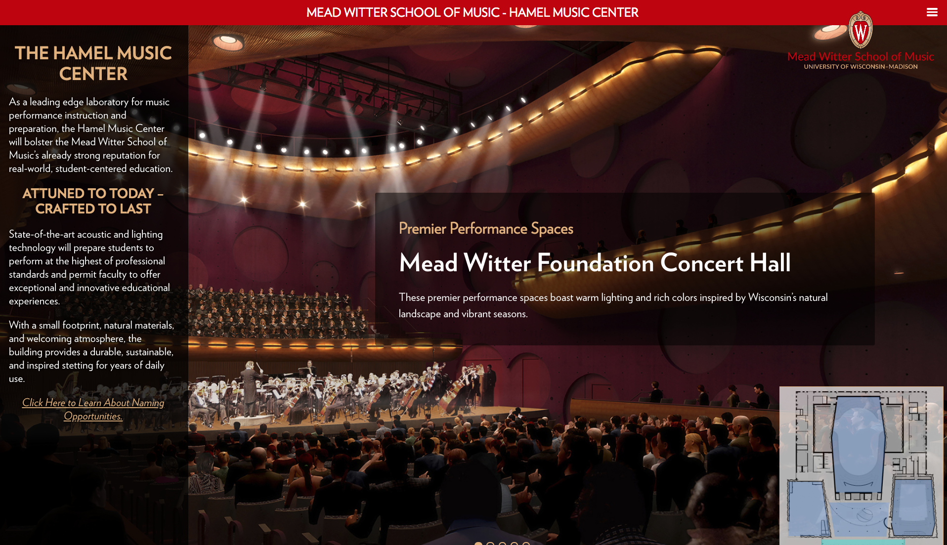 Hamel Music Center Website