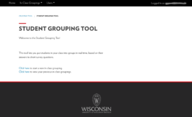 Student Grouping Tool