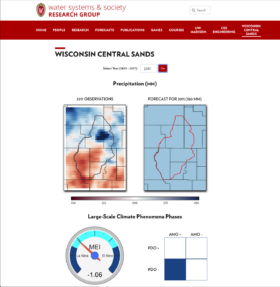 Wisconsin Central Sands Precipitation Tool